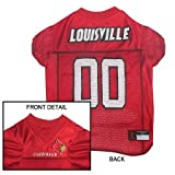 Mirage Pet Products Louisville Cardinals Jersey for Dogs and Cats, Small
