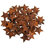 Firefly Imports Metal Rustic Stars Christmas Decor, Rust (2-Inch)