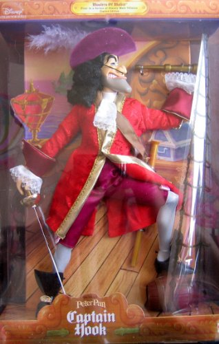 [Disney Peter Pan CAPTAIN HOOK Doll Masters of Malice - 1st in Series Male Villains Limited Edition] (Grown Up Peter Pan Costume)