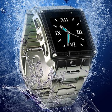 W818 Stainless Steel Waterproof Watch Mobile Phone(prevents Domestic Water,can`t Swimming) - coolthings.us
