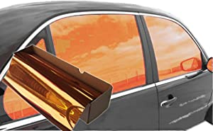 JNK NETWORKS Reflective Shield Ceramic Window UV Tint Film for Cars Trucks Tractors (Orange, 20