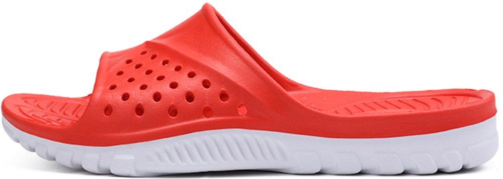 Phefee Mens Slide Sandals Anti-Slip Lightweight Bathroom Shower Slipper(Red40) by Phefee (Image #1)
