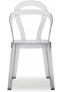 Set 6 SEDIE Design con base in alluminio nero e schienale in ...