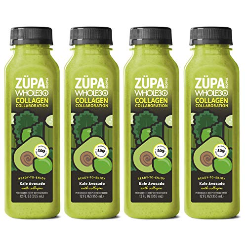 ZUPA NOMA Organic Kale Avocado Soup with Collagen Protein, Whole30, Paleo, Keto (8 pack)