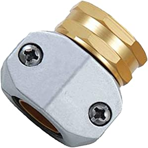 PLG Heavy Dutty Garden Hose Repair Fittings,Female Hose Connector/Replacement/Mender for All 3/4-inch or 5/8-inch Garden Hose