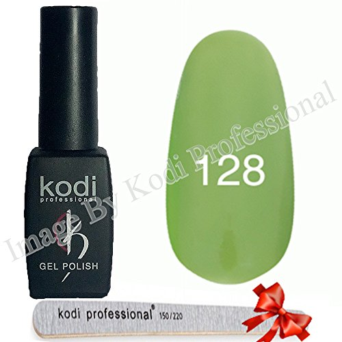 Kodi Professional color Gel LED UV Original Nail Polish Soak Off 8ml 0.28 Oz + Present Kodi Nail File (Gel Polish # 128)