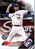 2016 Topps Update #US267 Michael Saunders Toronto Blue Jays Baseball All-Star Card in Protective Screwdown Display Case