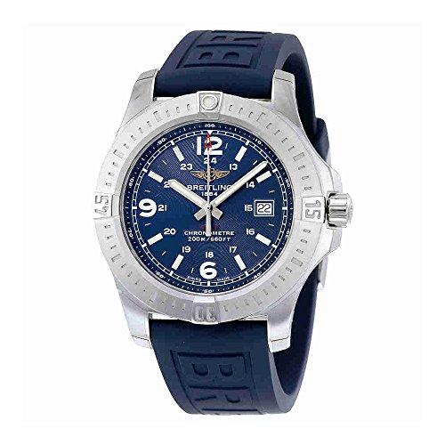 Breitling Colt Blue Dial Blue Rubber Mens Watch A7438811-C907BLPT3