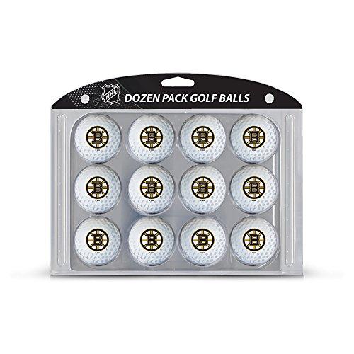 Team Golf NHL Boston Bruins Dozen Regulation Size Golf Balls, 12 Pack, Full Color Durable Team Imprint