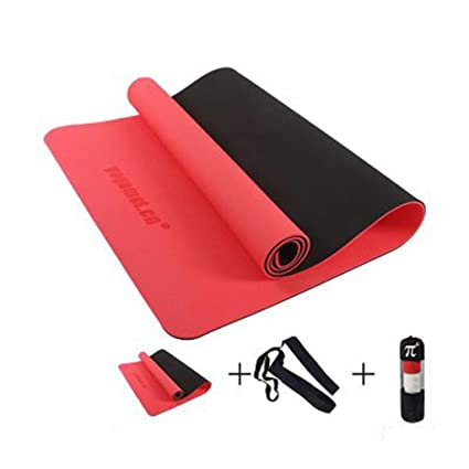 Amazon.com : Jzmai Yoga mat Tasteless TPE Yoga Mat Widened ...