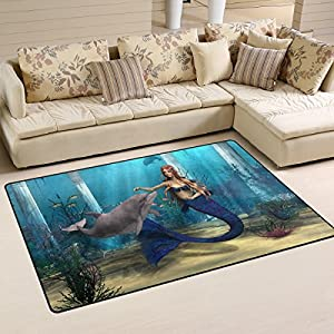 518mAw2B5-L._SS300_ 50+ Mermaid Themed Area Rugs