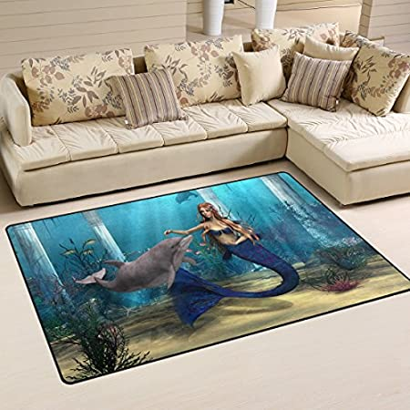 518mAw2B5-L._SS450_ 50+ Mermaid Themed Area Rugs