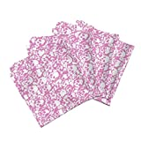 Roostery Halloween Organic Sateen Dinner Napkins Skull Wall Pink. by Ben Goetting Set of 4 Cotton Dinner Napkins Made