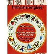 MON GRAND DICTIONNAIRE FRAN€AIS/ANGLAIS