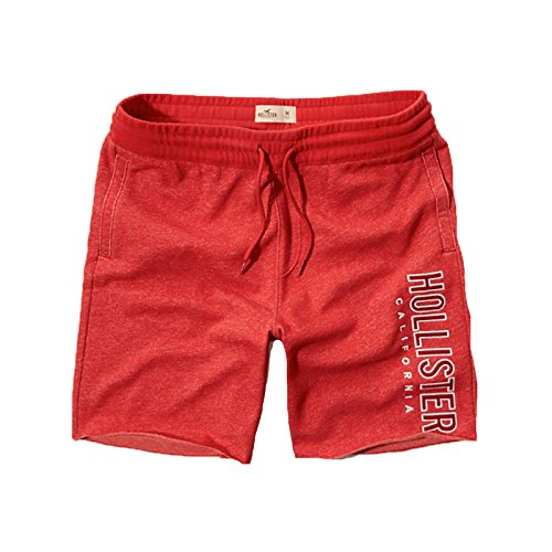hollister-mens-fleece-shorts-prep-beach-shorts-xl-red