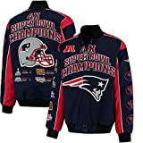 New England Patriots 4 Time Super Bowl Champs Triumph Twill Commemorative Jacket - 2XL