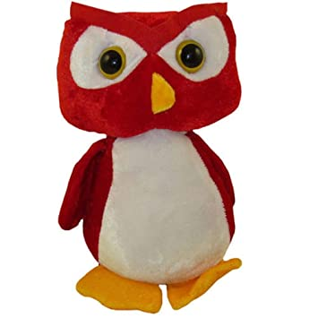 Amazon Com Red Hooter Owl Small 9 Inches Stuffed Animal Toys Games