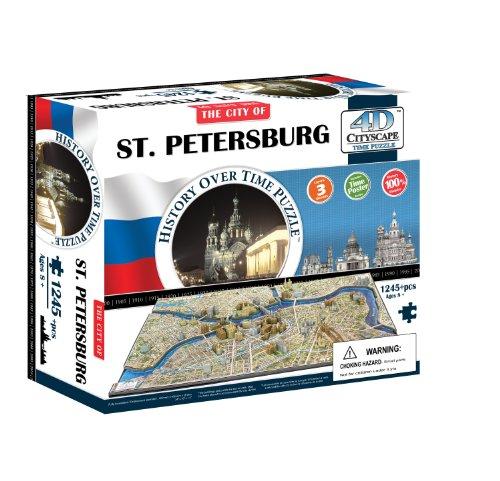 4D Cityscape St. Petersburg Russia Puzzle
