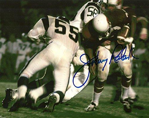 Signed Johnny Roland Photo - 8x10 W COA VS RAMS - Autographed MLB Photos
