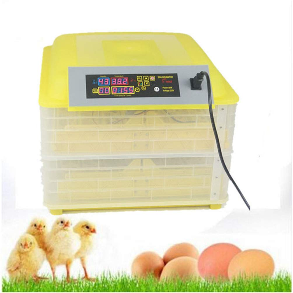 GGYJC 80W Large Capacity 96 Eggs Incubator Fully Automatic Egg Turning Chicken Brooder Poultry Hatcher Hatching Machine