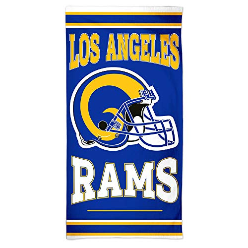 WinCraft NFL Los Angeles Rams Towel30x60 Beach Towel, Team Colors, One Size
