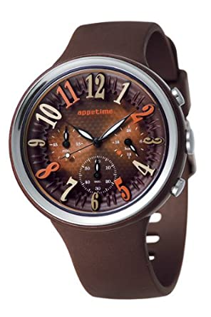 Appetime Japan Damen-Armbanduhr SVD540014 Orange Peel Chocolat