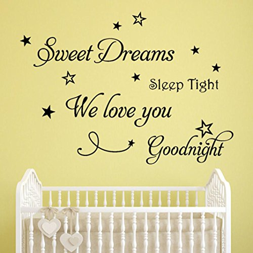 YJYDADA Wall Stickers,Sweet Dreams Removable Art Vinyl Mural