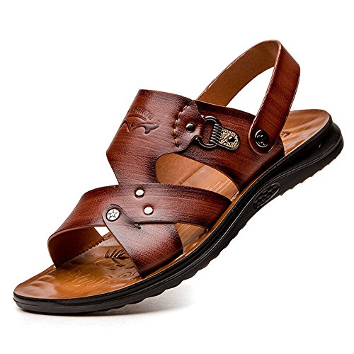Sommer Das neue Männer Sandalen Freizeit Mode Sandalen Atmungsaktiv Männer Strand Schuh Männer Sandalen ,braun,US=8,UK=7.5,EU=41 1/3,CN=42