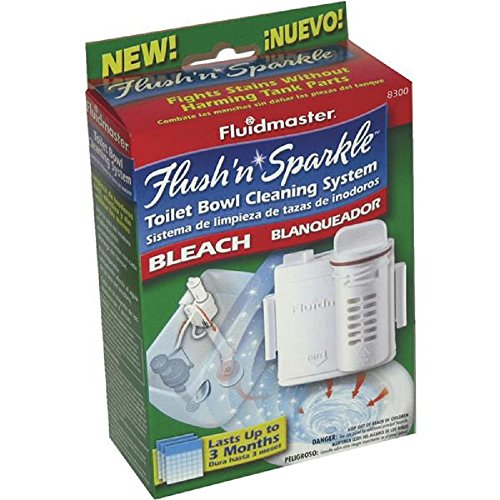Toilet Solution Complete (Fluidmaster 8300 Flush 'n Sparkle Automatic Toilet Bowl Cleaning System, Bleach)