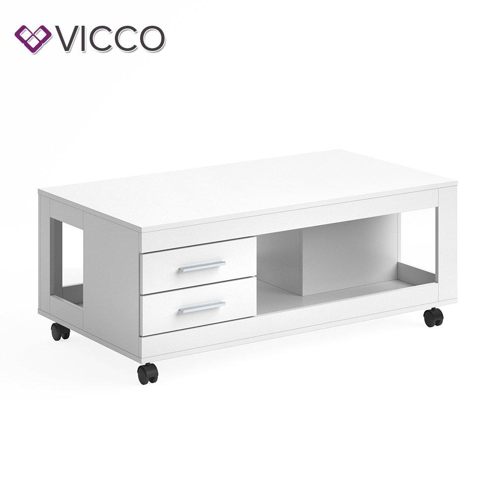 Vicco Couchtisch Bruno 65x120 Cm Mit Schubladen Schubladen Mit