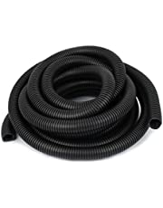 uxcell 21mm OD Protective Spiral Wire Conduit Corrugated Tube 4.9M 16Ft Black