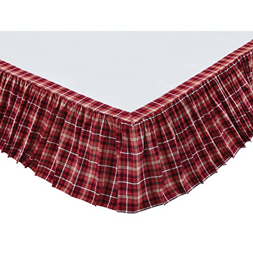 VHC Brands Braxton 29193 Bed Skirt, (Apple Bedskirt)