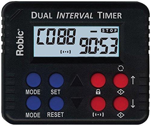 Robic M613 Dual Interval   Countdown Timer  Black