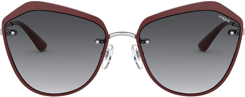 Vogue Vo4159s - Occhiali da sole in metallo con occhio di gatto Rosso