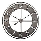 Studio Designs Home Industrial Loft 15 Inches Metal Wall Clock, Brushed Steel