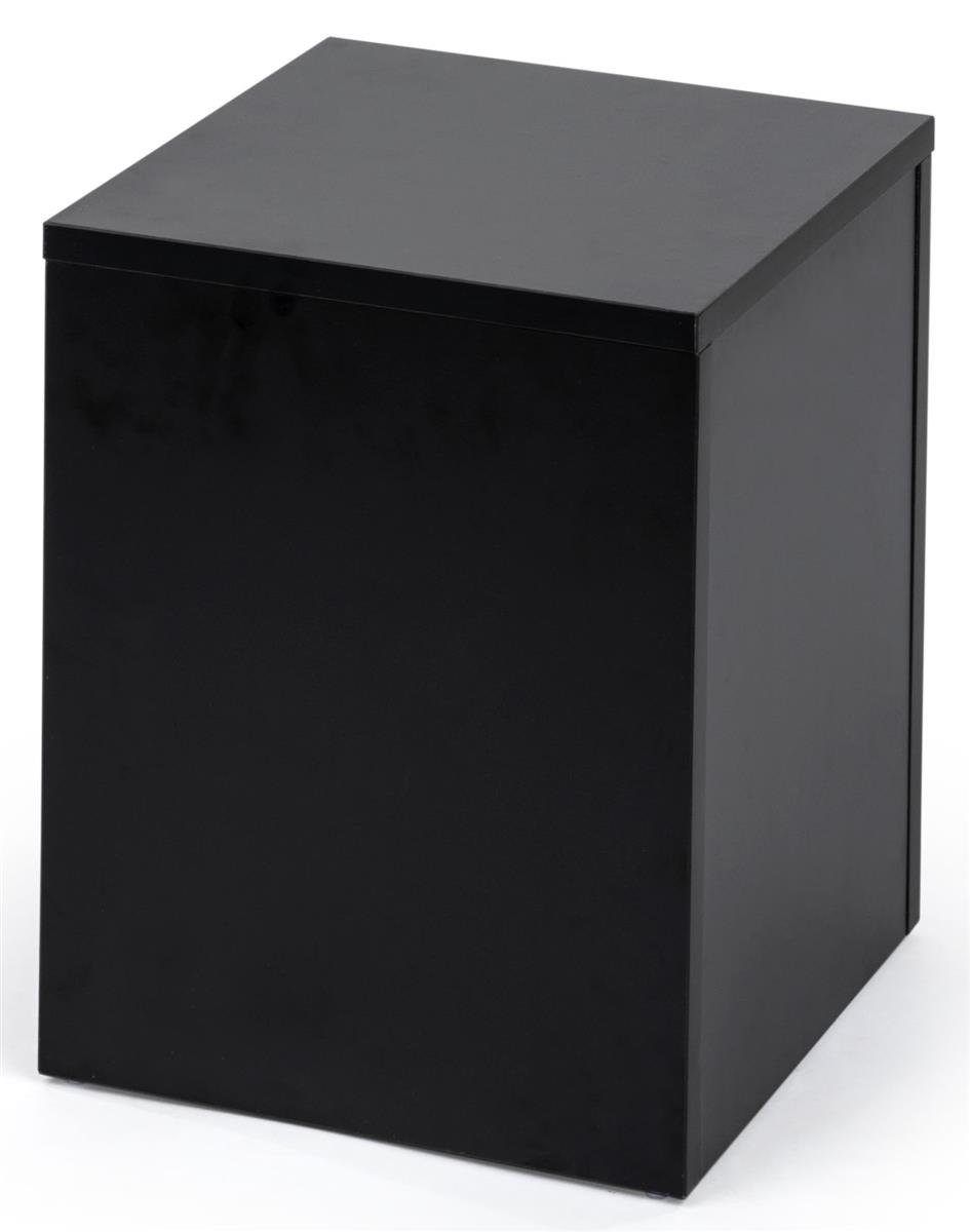 Displays2go Black Retail Display Pedestal with Collapsible Design - Black (WDCUBEBLK1) by Displays2go (Image #1)