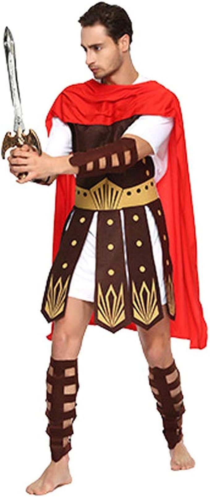 Amosfun Halloween Antigua Romana Gladiador Vestidos Máscaras Ropa ...