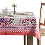 Maison d' Hermine Rose Garden 100% Cotton Tablecloth 60 Inch by 108 Inch