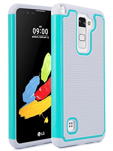 - LG Stylo 2 Case, LG LS775 Case, NOKEA [Shock Absorption] Drop Protection Hybrid Dual Layer Armor Defender Protective Case Cover for LG Stylo 2 (Grey Teal)