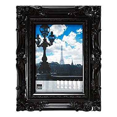 Kiera Grace Virginia Ornate Picture Frame, 4 by 6-Inch, Black