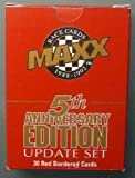 MAXX Race Cards - 1988-1992 - 5th Anniversary Edition - Update Set - 30 Red Bordered Cards - NASCAR