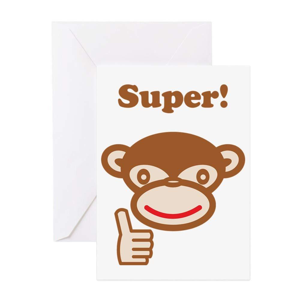 CafePress Super Birthday Card Greeting Card Note Card Blank Inside Matte