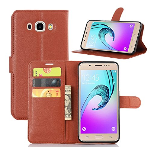Galaxy J7(2016) J710 Case,Qidreamcase [KickStand][Flip][Card Slot][Slim Fit] - PU Leather Wallet Case for Samsung Galaxy J7(2016) J710 - Online That Take Stores Debit
