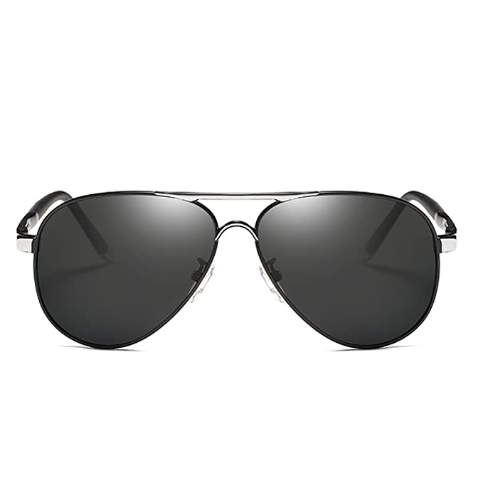 Gafas de sol Aviador polarizado de conducción UV 400 Protección Gafas Unisex Ultra Light Metal Marco Almohadillas De Nariz De Silicona Gafas De Sol: ...