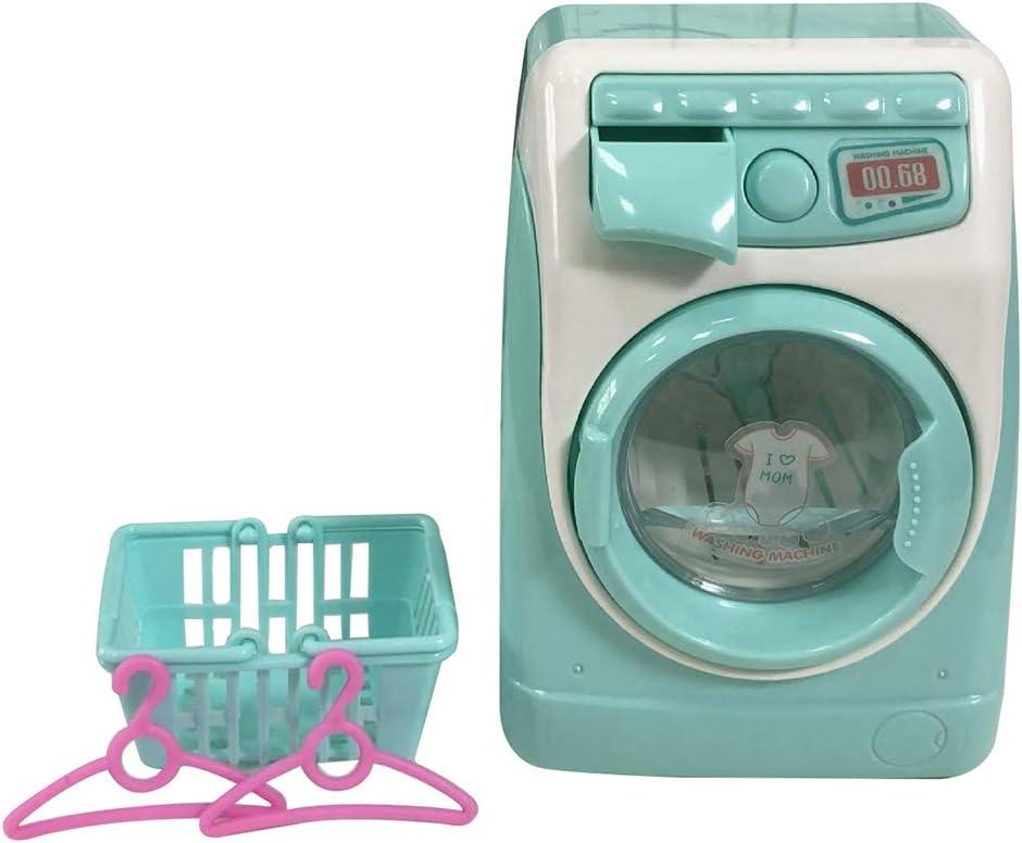 Facaily Toy Washing Machine Mini Simulation Dollhouse Furniture Children Play House Washing Machine for Fun Kids