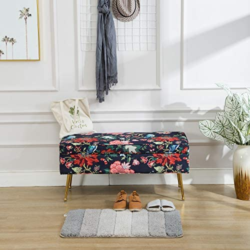 Kmax Fabric Large Storage Ottoman Bench Printed