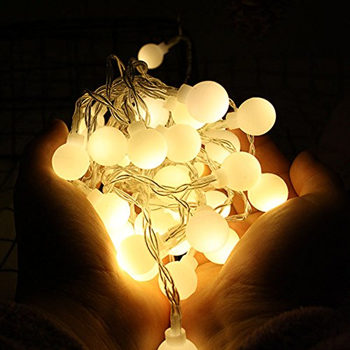 Nufelans_String Light 2.5M 20LED Fairy Lamp for Window Curtain Lights String Lamp Decorative Lights for Party Outdoor (Warm White) by Nufelans_String Light (Image #1)