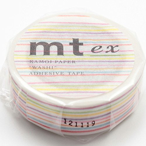 MT Washi Masking Tape Ex Color Pencil Border (MTEX1P78)