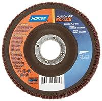 Norton Blaze R920 Abrasive Flap Disc, Type 27, Threaded Hole, Fiberglass Backing, Ceramic Aluminum Oxide