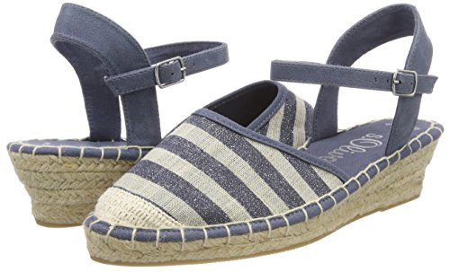 28351 oliver str Blue Women''s Ankle Strap Sandals navy S Glit 6T7BwqAT